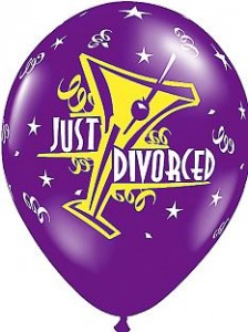 divorce party balloon
